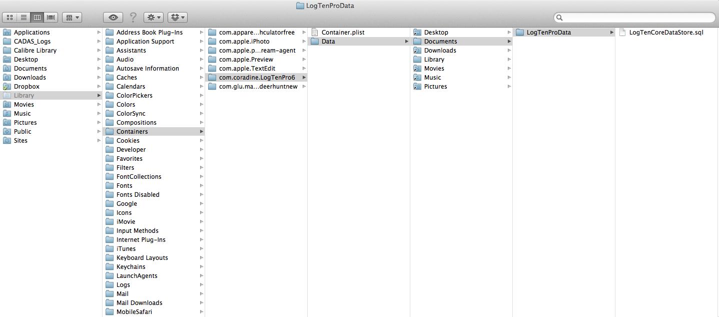 744be4c9af8 Finding the LogTenPro Raw File (and Backing Up) - ProPilotPrint™